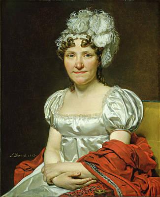 Jacques-louis David French, 1748-1825, Madame David Art Print
