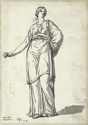 Jacques-louis David, Woman From The Villa Pamphili Art Print