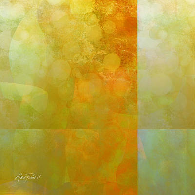Carnelian Painting - Jade And Carnelian Abstract Art  by Ann Powell
