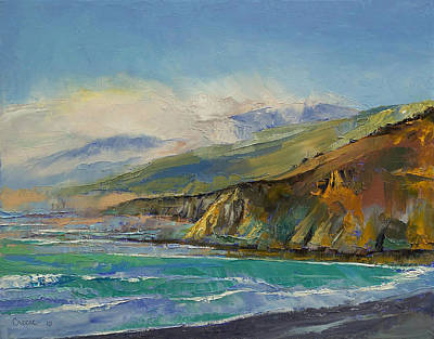 Mist Painting - Jade Cove by Michael Creese