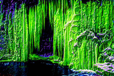 Gaudy Painting - Jade Crystal Cave by Bruce Nutting
