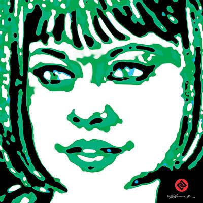 Digital Art - Jade In Green by David Davies