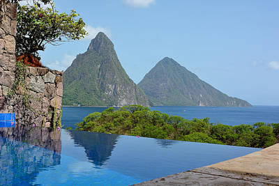 Saint Lucia Photograph - Jade Mountain Infinity Pool by Brendan Reals