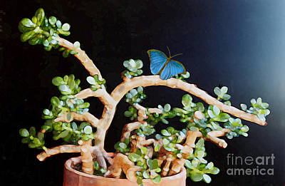 Digital Art - Jade With Butterfly by Ursula Freer