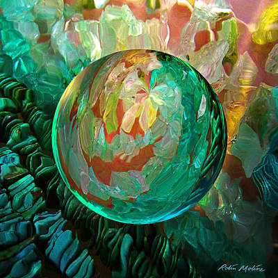 Green Digital Art - Jaded Jewels by Robin Moline