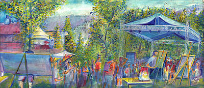 Painting - Jaden Carlson Band Groovefest by David Sockrider