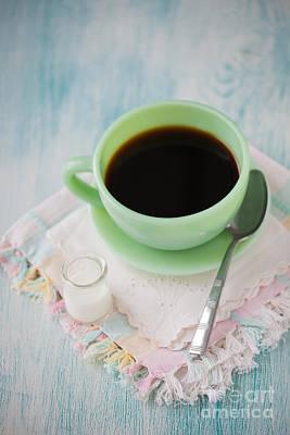 Jadite Coffee Cup Art Print by Kay Pickens