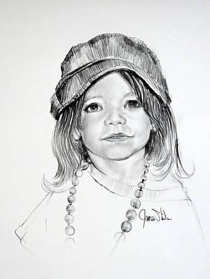 Drawing - Jaelyn by James Skiles