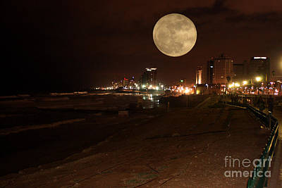 Photograph - Rising Full Moon by Doc Braham