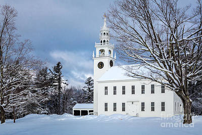 Photograph - Jaffrey Meetinghouse by Susan Cole Kelly