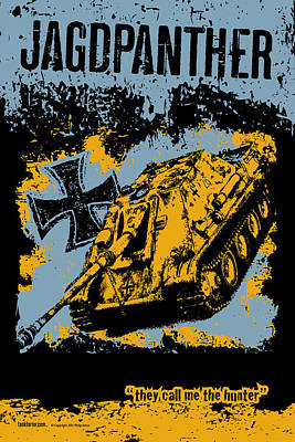 Jagdpanther Late Production Print by Philip Arena