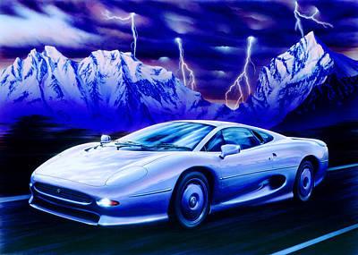 Jaguar 220 Art Print by Garry Walton