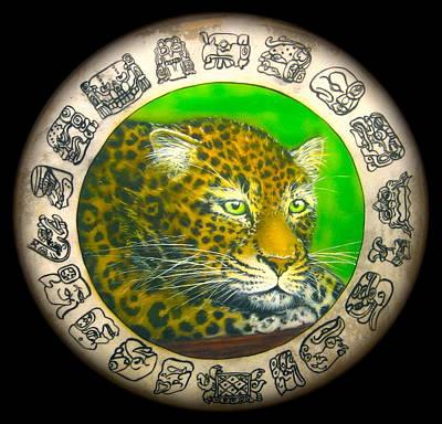 Mayan Mixed Media - Jaguar Drum  by Ethan  Foxx