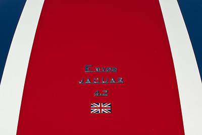 Jaguar E-type 4.2 Emblem 3 Art Print by Jill Reger