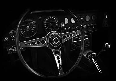 Photograph - Jaguar E Type Interior by Mark Rogan