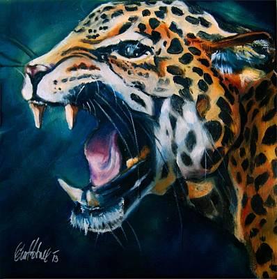 Painting - Jaguar by Em Kotoul