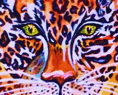 Painting - Jaguar Eyes-  by Ellen Levinson