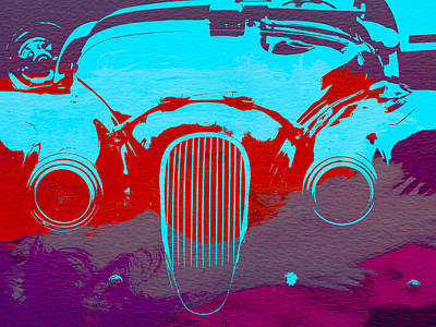 Jaguar Front End Art Print by Naxart Studio