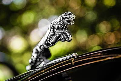 Photograph - Jaguar Hood Ornament by Karen Saunders