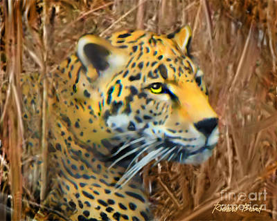 Digital Art - Jaguar In The Wild by Richard Beard