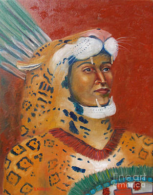 Painting - Jaguar Knight Popoca by Lilibeth Andre
