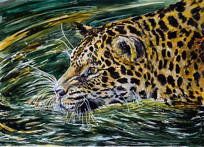 Jaguar Painting - Jaguar by Kovacs Anna Brigitta