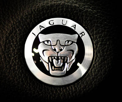 Photograph - Jaguar Logo by Ronda Broatch