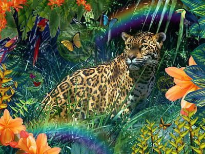 Alixandra Mullins Photograph - Jaguar Meadow  Variant 1 by Alixandra Mullins