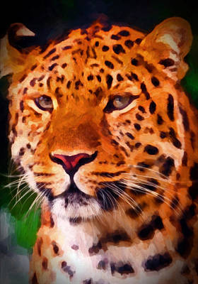Preditor Painting - Jaguar by Michael Pickett