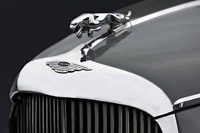 Car Emblem Photograph - Jaguar Mk Ix Hood by Susan Candelario