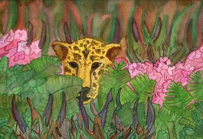 Painting - Jaguar Prowl by Amanda Balough