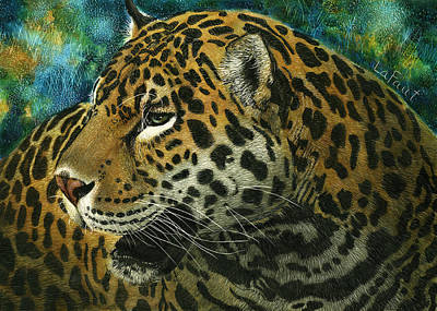 Mixed Media - Jaguar by Sandra LaFaut