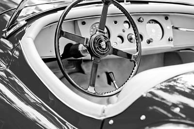 Photograph - Jaguar Steering Wheel 2 by Jill Reger