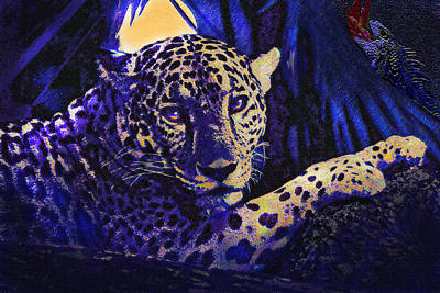 Rain Digital Art - Jaguar- The Spirit Of Belize by Jane Schnetlage
