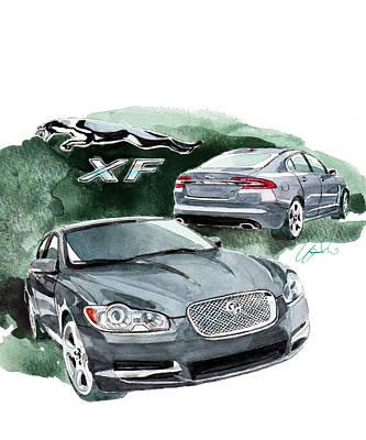 Jaguar Painting - Jaguar Xf by Yoshiharu Miyakawa