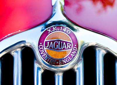 Photograph - Jaguar X.k. 140 Logo II by Ronda Broatch