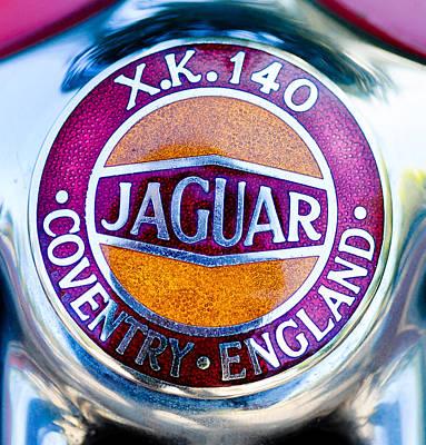 Photograph - Jaguar X.k. 140 Logo by Ronda Broatch