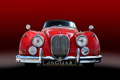 Photograph - Jaguar Xk 150 by Radoslav Nedelchev