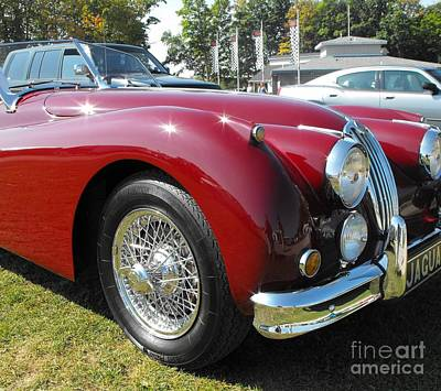 Photograph - Jaguar Xk140 by Neil Zimmerman