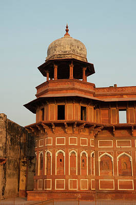 Inlay Photograph - Jahangiri Mahal, Agra Fort, Agra, Uttar by Inger Hogstrom