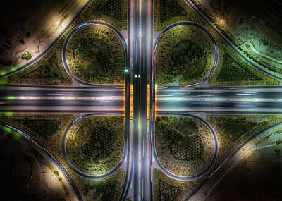 Aerial Wall Art - Photograph - Jahra Road by Faisal Alnomas
