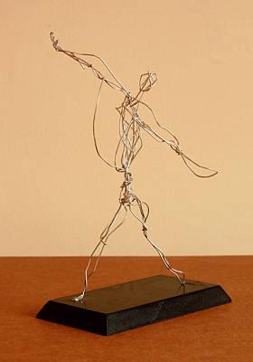 Jai-alai Sculpture - Jai-alai Player by Mel Drucker