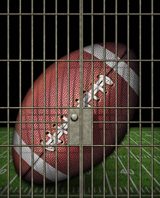 Jailed Football Art Print