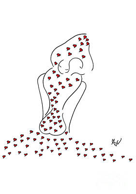 Drawing - J'aime by Ingrid Barlebo-Larsen