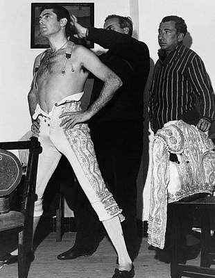 Unbuttoned Photograph - Jaime Ostos Undressing by Henry Clarke