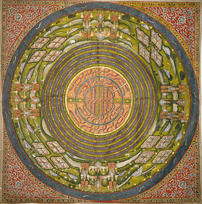 Illustration Technique Photograph - Jain Diagram Of The Universe by British Library