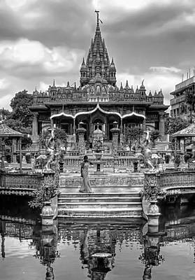 Jainism Wall Art - Photograph - Jain Temple Monochrome by Steve Harrington