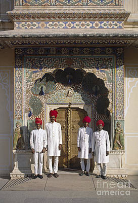 Photograph - Jaipur Palace Gaurds - Rajasthan India by Craig Lovell