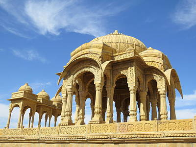 Photograph - Jaisalmer Cenotaph by David Rich