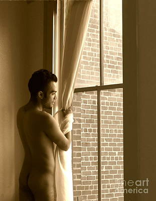 Photograph - Jake At Galveston Window by Robert D McBain